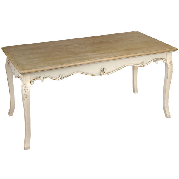 Country Cream Shabby Chic Large Dining Table - lovefurnitureuk