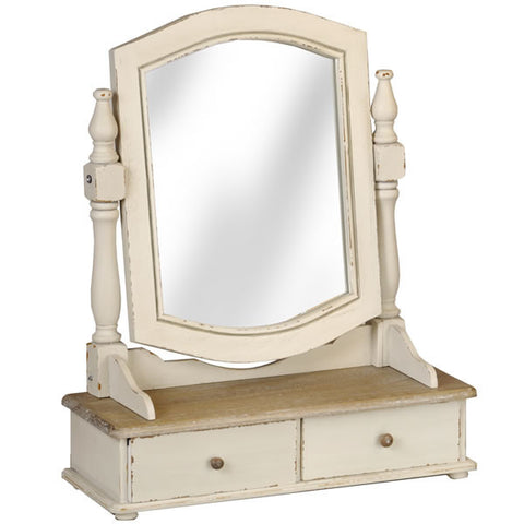Country Cream Shabby Chic Dressing Table Mirror