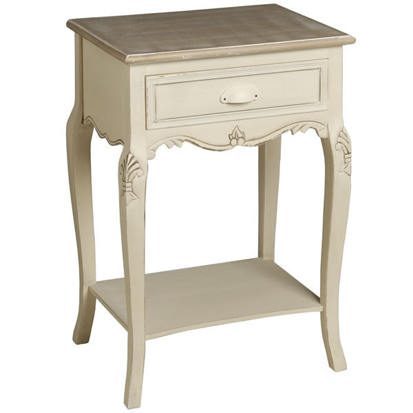 Country Cream Shabby Chic Bedside Table - lovefurnitureuk