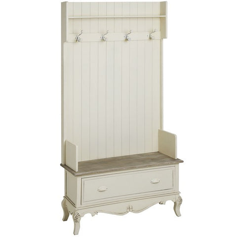Country Cream Shabby Chic Hall Chair