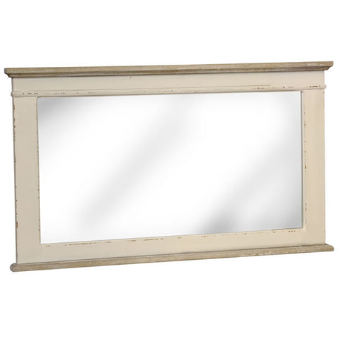 Country Cream Shabby Chic Horizontal Mirror