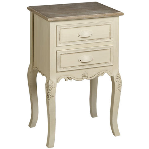 Country Cream Shabby Chic Lamp Table
