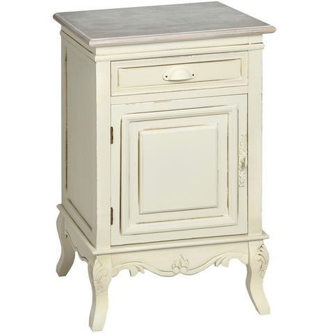 Country Cream Shabby Chic Left Hand Bedside