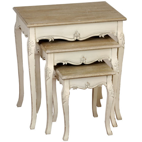 Country Cream Shabby Chic Nest Of Tables