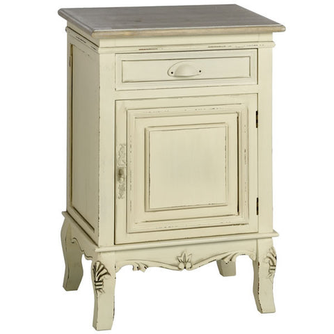 Country Cream Shabby Chic Right Hand Bedside