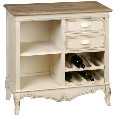 Country Cream Small Wine Rack