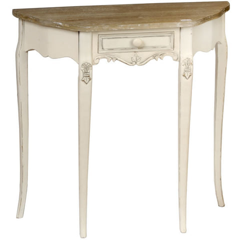 Country Cream Shabby Chic Curved Console Table