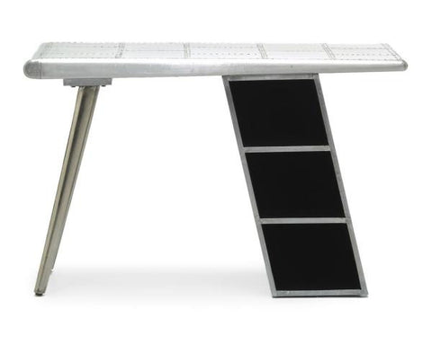 Aviator Brushed Aluminium Desk