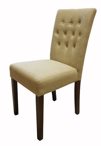 Shiro Walnut Flare Back Biscuit Dining Chair ( pair )