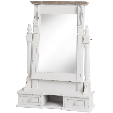 New England Shabby Chic Dressing Table Mirror