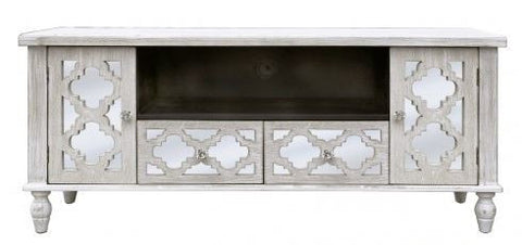 Hamlin Beach Wooden Mirrored Entertainment Unit