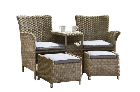 Royalcraft Wentworth Rattan Fixed Companion Set.