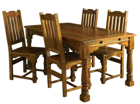 Granary Royale Extending Dining Table With 6 Dining Chairs