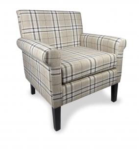 Hamilton Fabric Check Upholstered Armchair