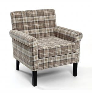 Hamilton Latte Upholstered Fabric Armchair