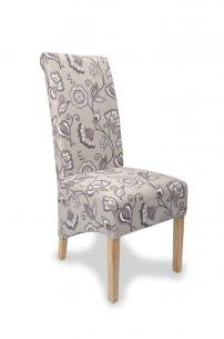 A Pair Of Krista Deco Amethyst Fabric High Back Chairs