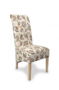 A Pair Of Krista Deco Spice Fabric High Back Chairs