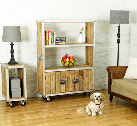 Roadie Chic Large Wooden Bookcase with Doors
