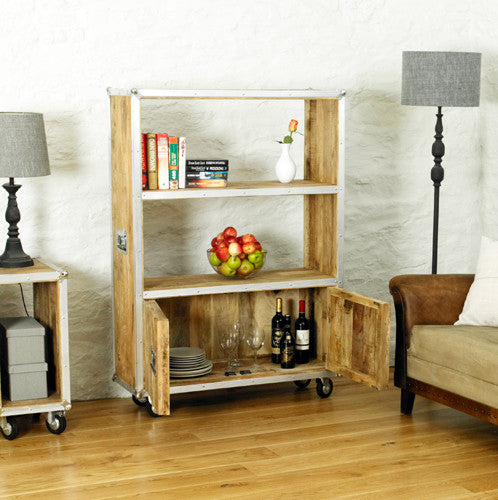 Road Chic Large Bookcase with doors - lovefurnitureuk