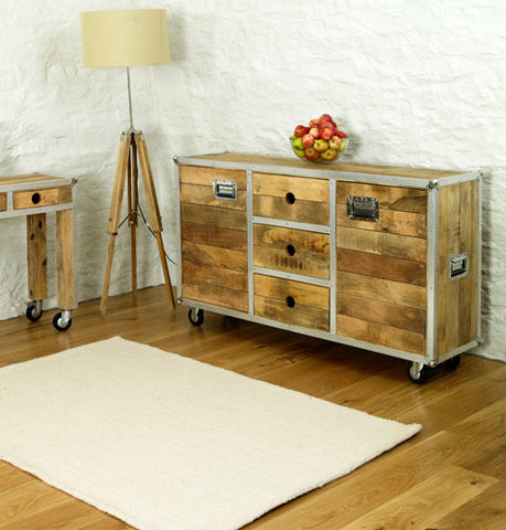 Roadie Chic Large Wooden Sideboard