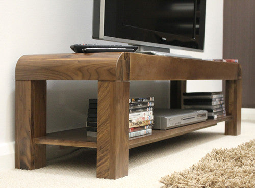 Shiro Walnut Low Television Cabinet - lovefurnitureuk