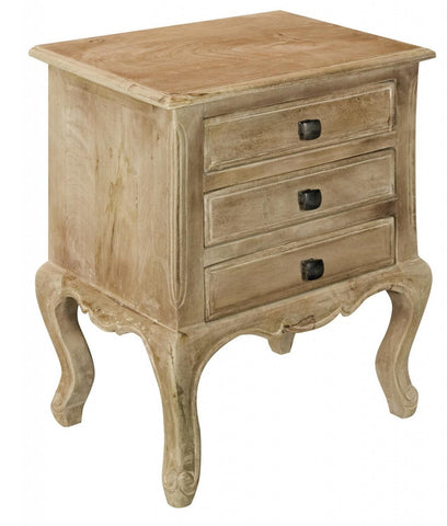 Maison 3 Drawer Bedside Table
