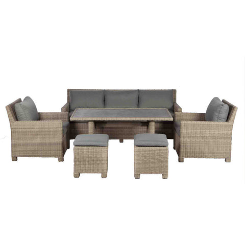 Royalcraft Wentworth Rattan Modular Sofa Dining Set.