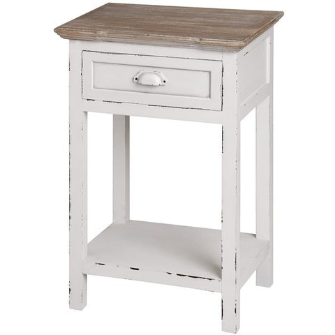 New England Shabby Chic One Drawer Bedside Table