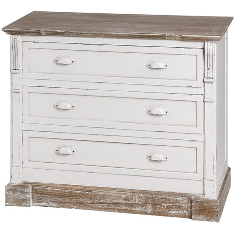 New England Shabby ChicThree Drawer Chest