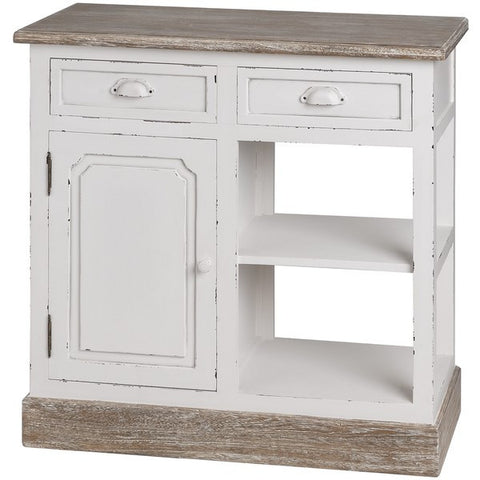New England Shabby Chic Kitchen Unit Console Cabinet