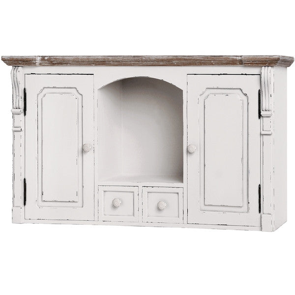 New England Shabby Chic Wall Mounted Cupboard - lovefurnitureuk