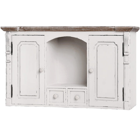 New England Shabby Chic Wall Mounted Cupboard