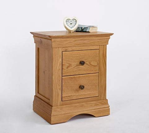 Normandy Oak 2 Drawer Bedside