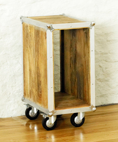 Roadie Chic Wooden Open Bedside Table