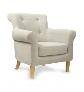 Pittsburgh Fabric Light Grey Upholstered Armchair