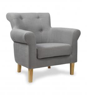 Pittsburgh Fabric Slate Grey Upholstered Armchair