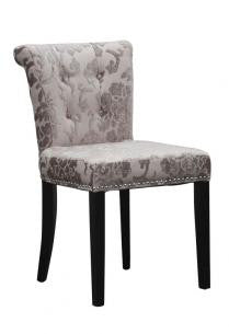 Four Sandringham Baroque Mink Fabric Chairs