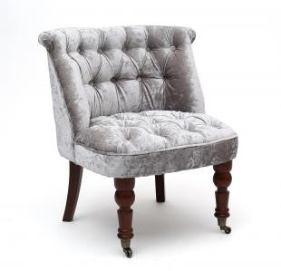 Shannon Crushed Velvet Silver Chair