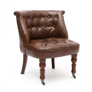 Shannon Leather Match Antique Brown Chair