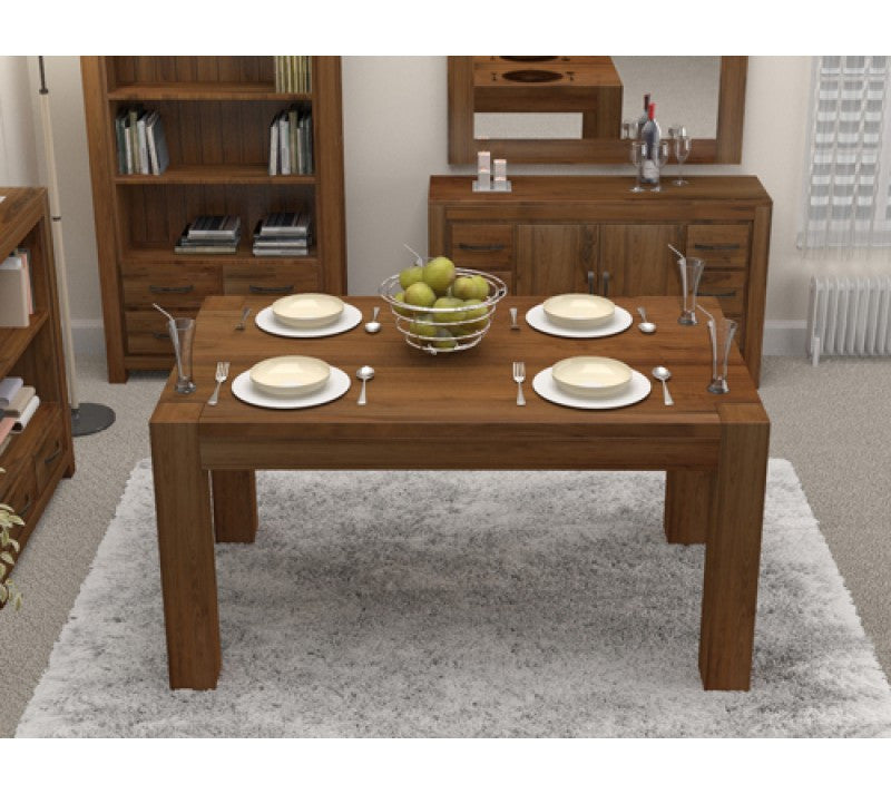 Shiro Walnut Dining Table ( 4 Seater ) - lovefurnitureuk