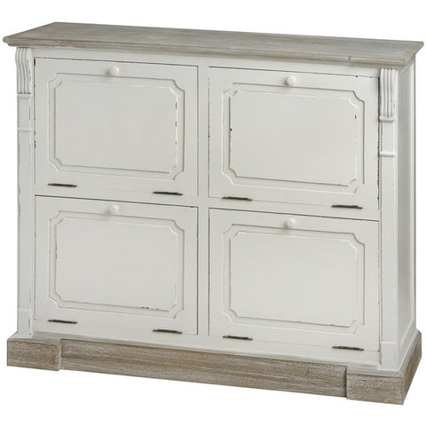 New England Shabby Chic Shoe Cabinet