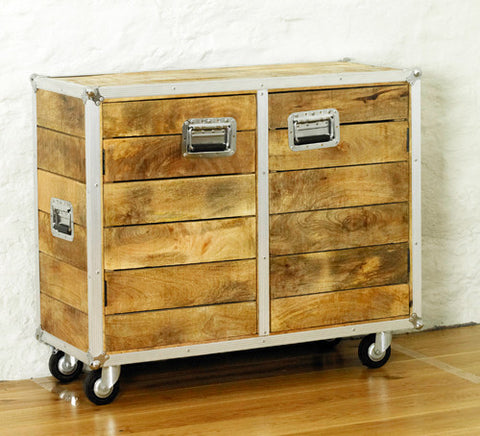 Roadie Chic Small Wooden Sideboard