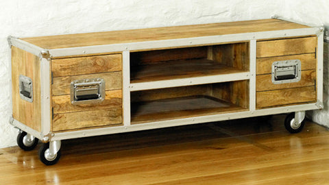 Roadie Chic Wooden Widescreen TV Cabinet with Two Doors