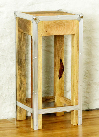 Roadie Chic Tall Wooden Lamp Table