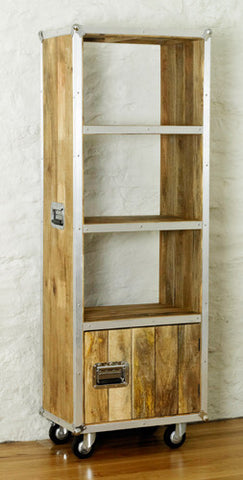 Roadie Chic Tall Wooden Bookcase with Door