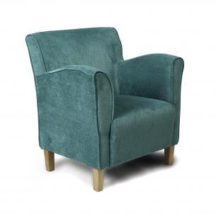 Varna Teal Fabric High Back Upholstered Armchair - lovefurnitureuk - 1