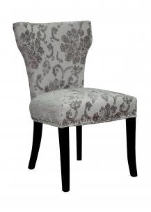 Windsor Baroque Mink Fabric Chair