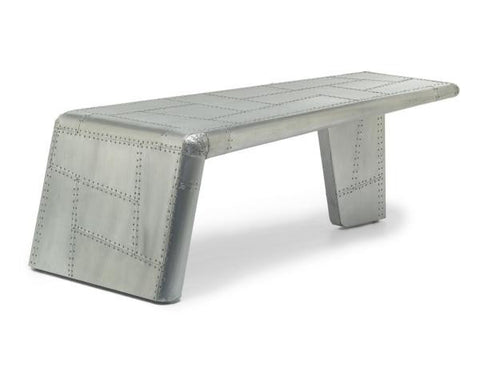 Aviator Brushed Aluminium Wing Coffee Table