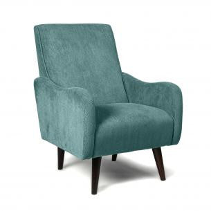 Zettle Teal Fabric High Back Upholstered Armchair