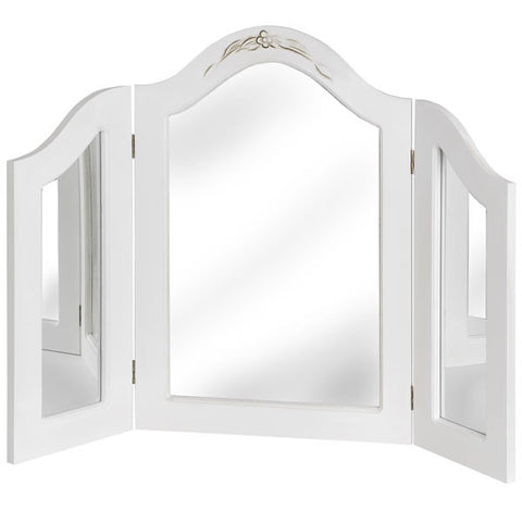 Classic White Painted Dressing Table Mirror
